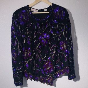 Beautiful Sequined long sleeve Top